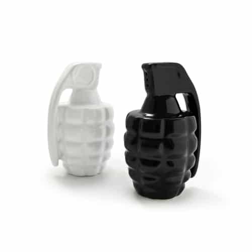 Grenade Salt & Pepper Shakers