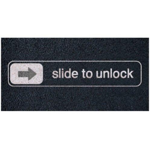 Retro Slide To Unlock Doormat