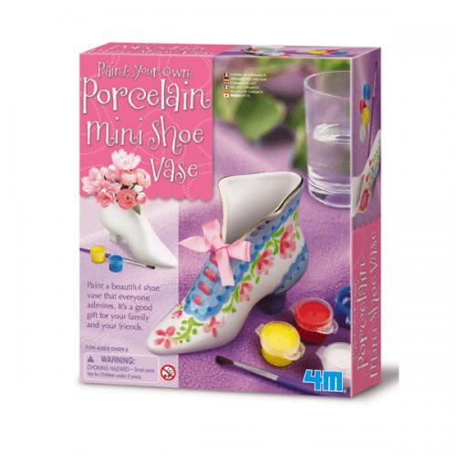 Paint Your Own Porcelain Mini Shoe Vase 3749 Yuppie Gadgets
