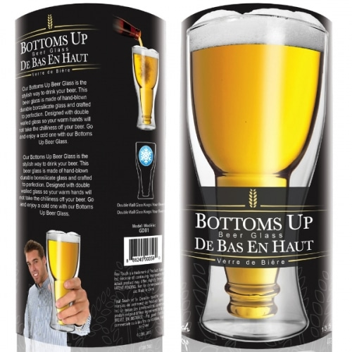 Bottoms Up Beer Glass