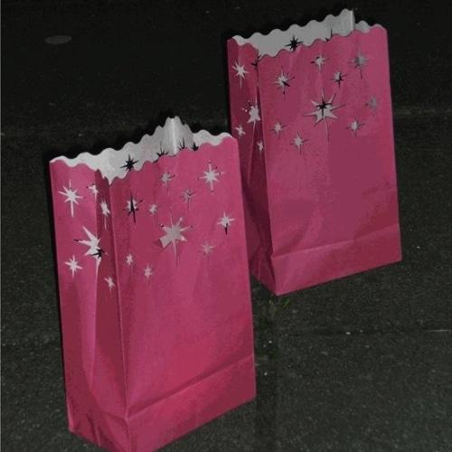 Candle Lantern Bags Pink Stars