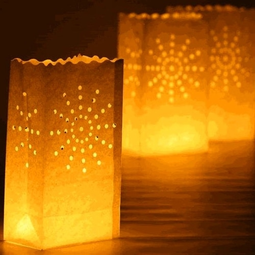 Candle Lantern Bags White Fireworks