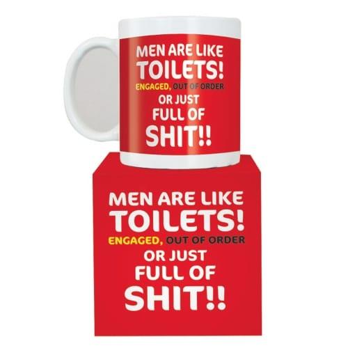 Men Are Like Toilets Mug