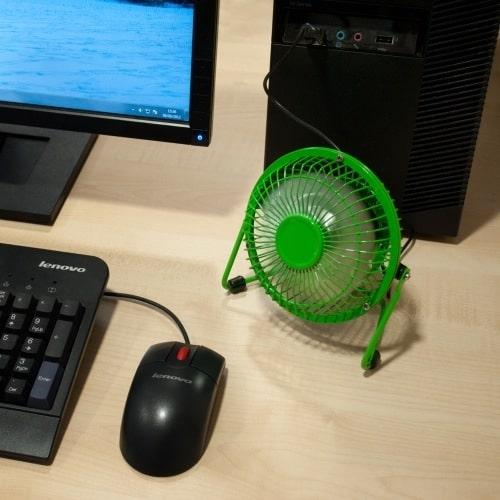 Usb Desk Fan Yellow Yuppie Gadgets