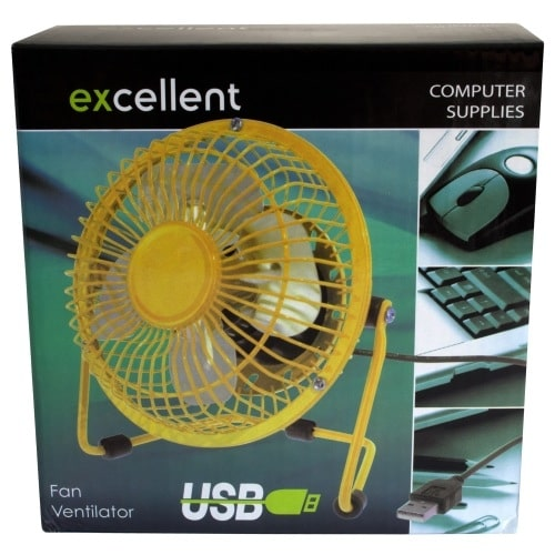 Usb Desk Fan Yellow Yuppie Gadgets