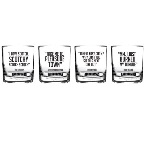 Anchorman Mini Scotch Shot Glasses