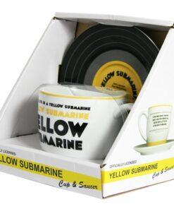 Lennon & McCartney Lyric Mug & Saucer – Yellow Submarine