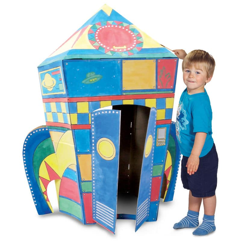 Colour Your Own Cardboard Castle Playset