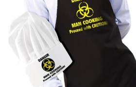 DANGER MAN COOKING Apron and Hat