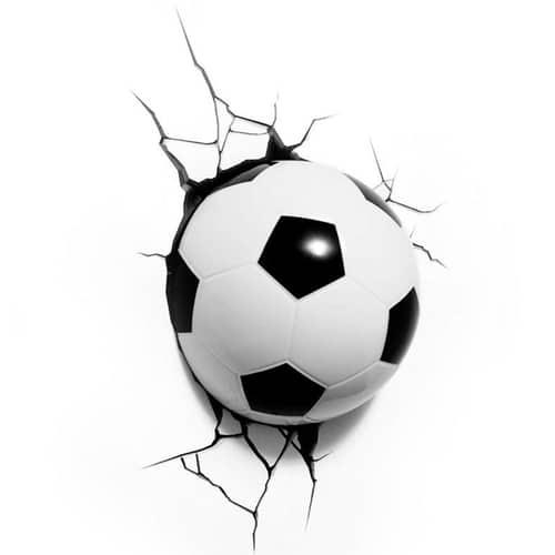 soccer ball 3d deco light yuppie gadgets. Black Bedroom Furniture Sets. Home Design Ideas