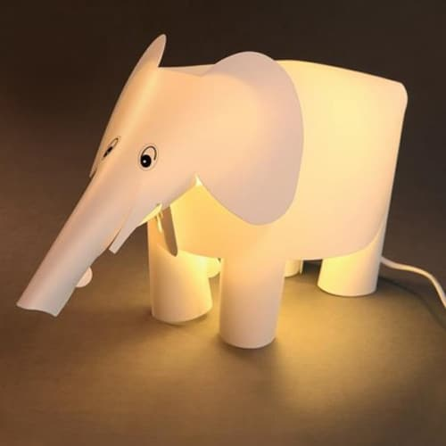 Binkie Elephant Lamp – White