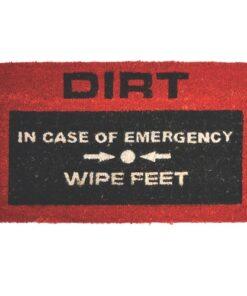 Emergency Doormat