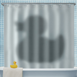 Shadow of the Duck Shower Curtain