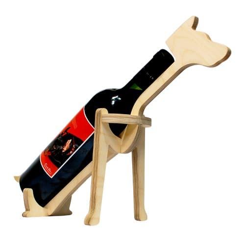 Animal Bones Wooden Bottle Holder – Dog