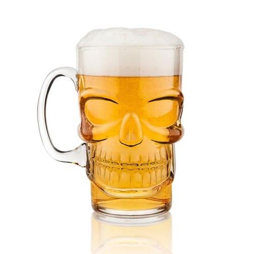 Skull Beer Pint Glass