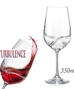 Turbulence Decanting Bohemian Crystal Wine Glasses - 350ml - 2 Pack