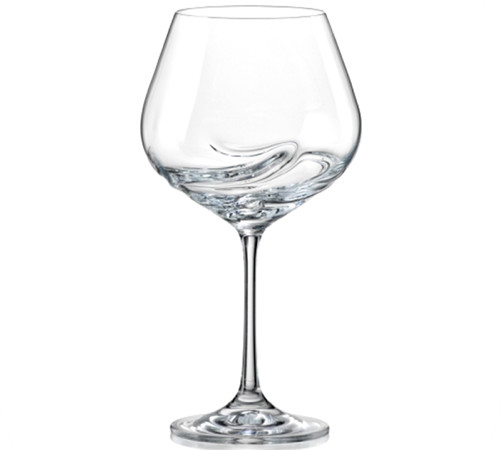 Turbulence Decanting Crystal Wine Glasses Burgundy 570ml