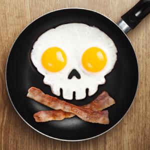Funny Side Up Skull Egg Shaper