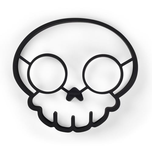 Funny Side Up Skull Egg Shaper