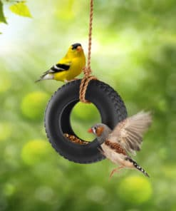 Swing Time Ceramic Bird Feeder