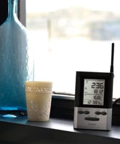 Wireless Rain Gauge with Thermometer