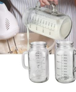 Glass Mason Measuring Jar