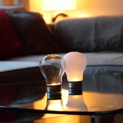 Frosted Light Bulb Tealight Holder