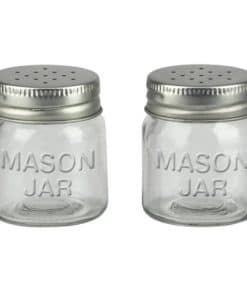 Mason Jar Salt and Pepper Shaker Set