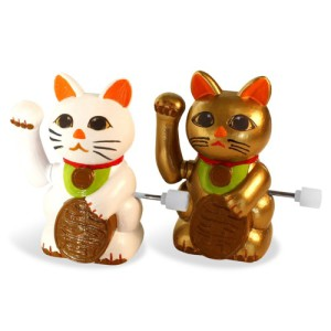 Wind Up Lucky Cats