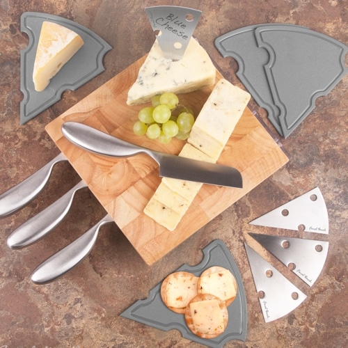 Cheese Station Set with Wood Block