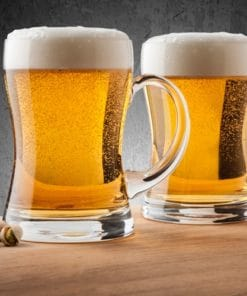 Mouth Blown Glass Beer Mugs Set