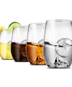 Grand Rock Highball Glass and Ice Ball Mould (8 pack)
