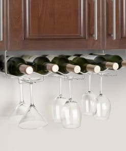 Under Cabinet Wine and Glass Rack