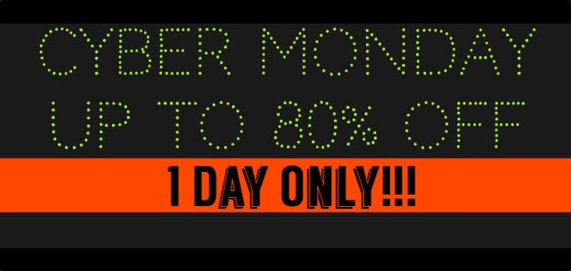 Kick off the week with Cyber Monday