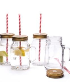 One Pint Mason Jar Mug Set