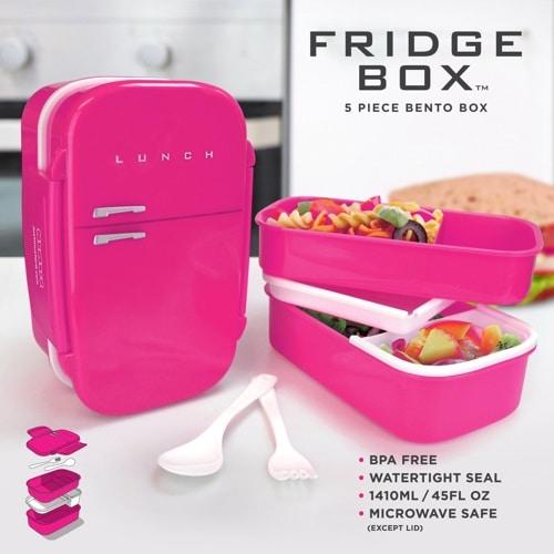 Fridge Shaped Bento Lunch Box – Pink