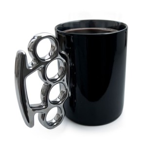 Knuckle Duster Mug – Black & Silver