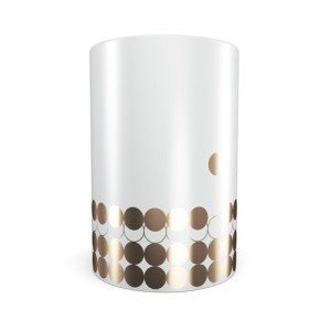 Portobello Mug Gold Dots and Circles Design
