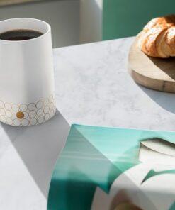 Portobello Mug Gold Dot Design
