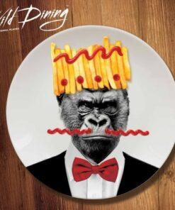 Wild Dining Dinner Plates - Gorilla