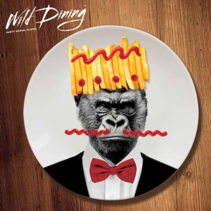 Wild Dining Dinner Plate – Gorilla