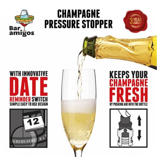 Bar Amigos Champagne Pressure Stopper –…