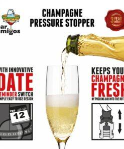 Bar Amigos Champagne Pressure Stopper - Purple