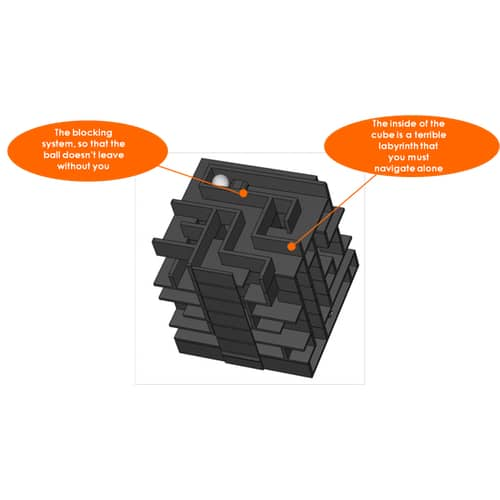 Inside Labyrinth Puzzle Cube