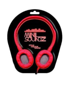 Mini Neon Soundz Headphones - Red