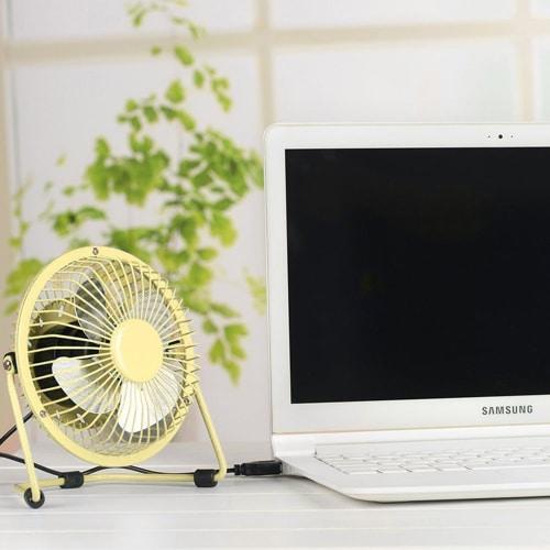 USB Desk Fan – Yellow
