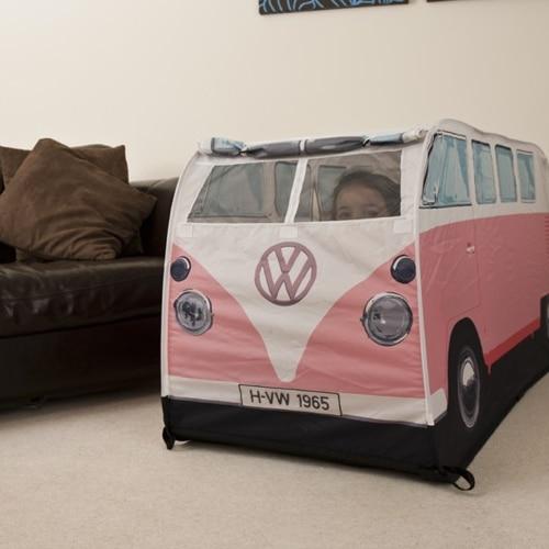 & VW Camper Van Kids Tent u2013 Pink - Yuppie Gadgets