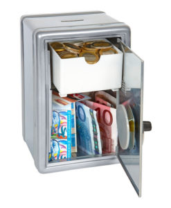 Mini Money Safe - Silver
