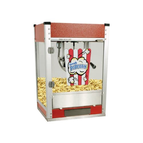 Cineplex Popcorn Maker and Stand 4oz - Red - Yuppie Gadgets