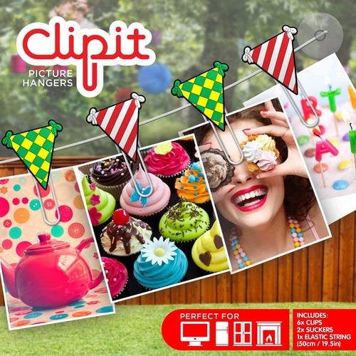 Clipit Picture Hangers – Bunting Flags